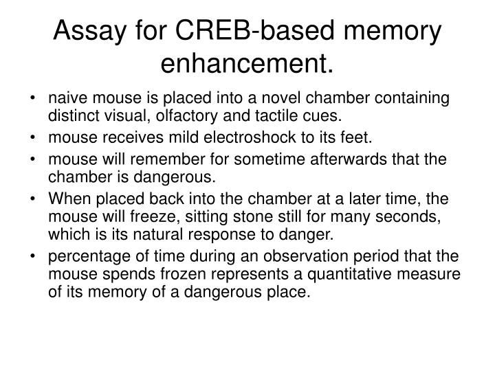 Assay for CREB-based memory enhancement.