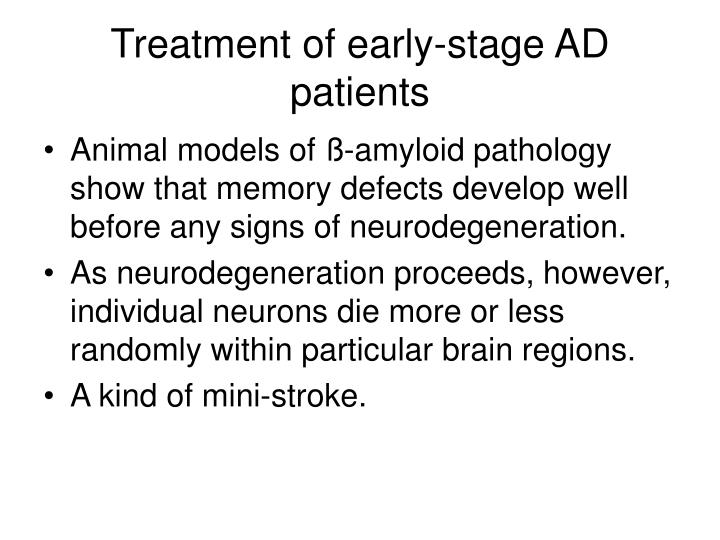 Treatment of early-stage AD patients