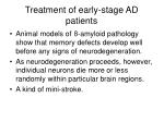 treatment of early stage ad patients