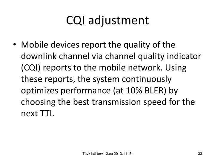 CQI adjustment