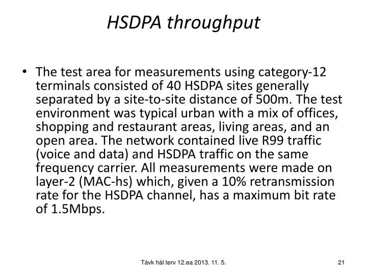 HSDPA throughput