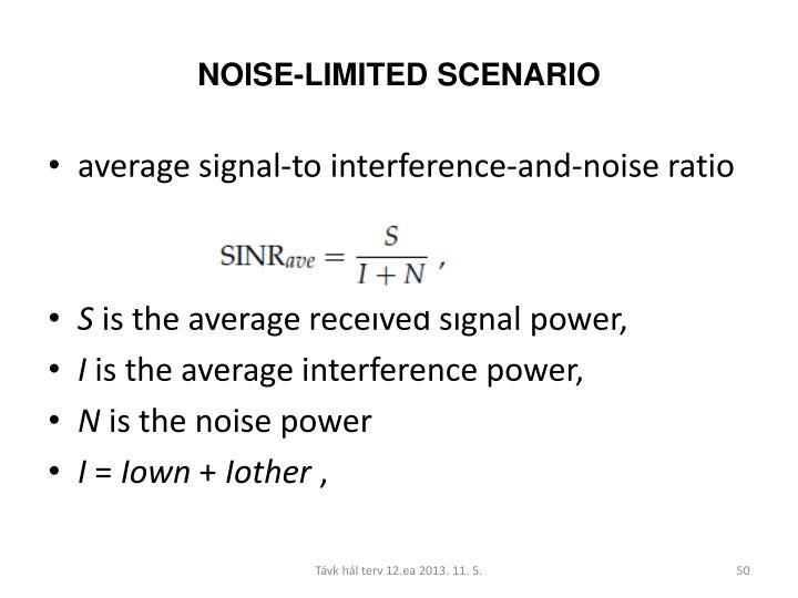 NOISE-LIMITED SCENARIO