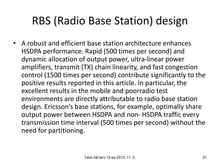 RBS (Radio Base Station) design