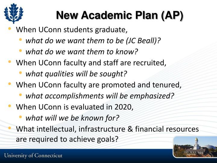 New Academic Plan (AP)