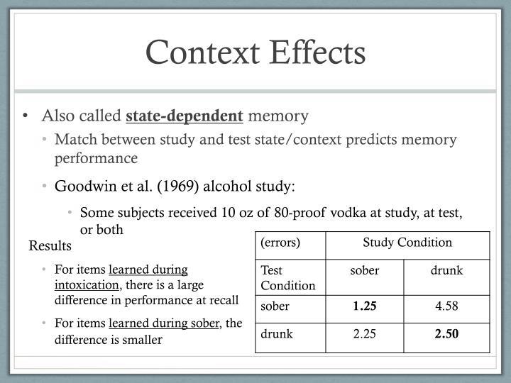 Context Effects