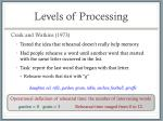 levels of processing5