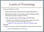 levels of processing6
