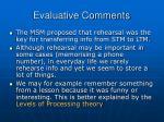 evaluative comments