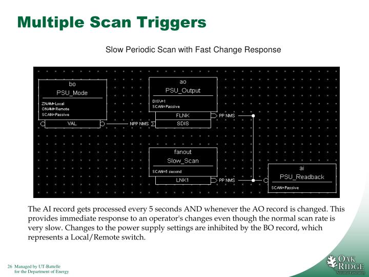Multiple Scan Triggers
