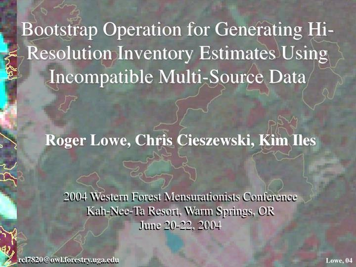 2004 Western Forest Mensurationists Conference