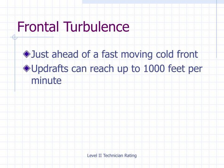 Frontal Turbulence