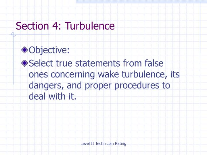 Section 4: Turbulence