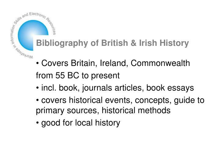 Bibliography of British & Irish History