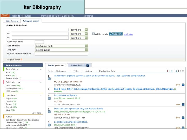 Iter Bibliography