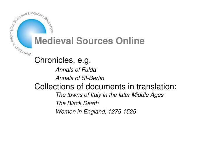 Medieval Sources Online