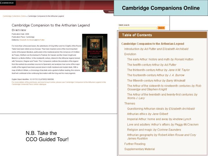 Cambridge Companions Online