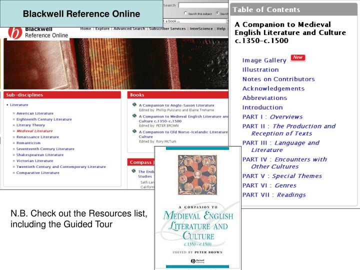 Blackwell Reference Online