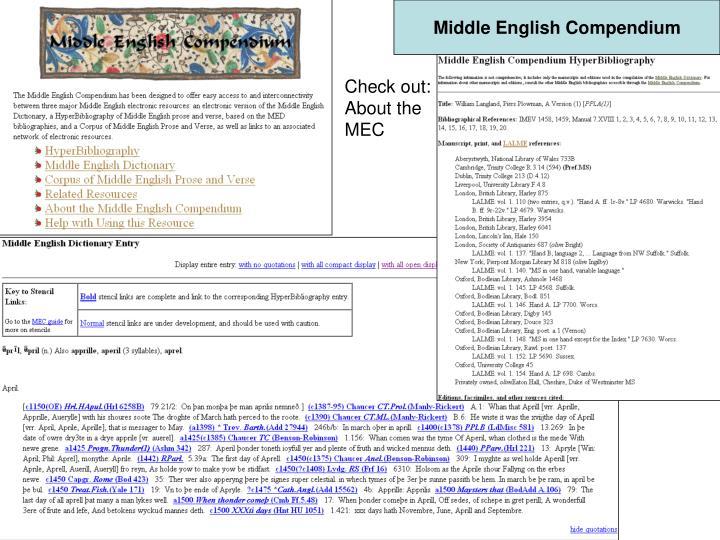 Middle English Compendium