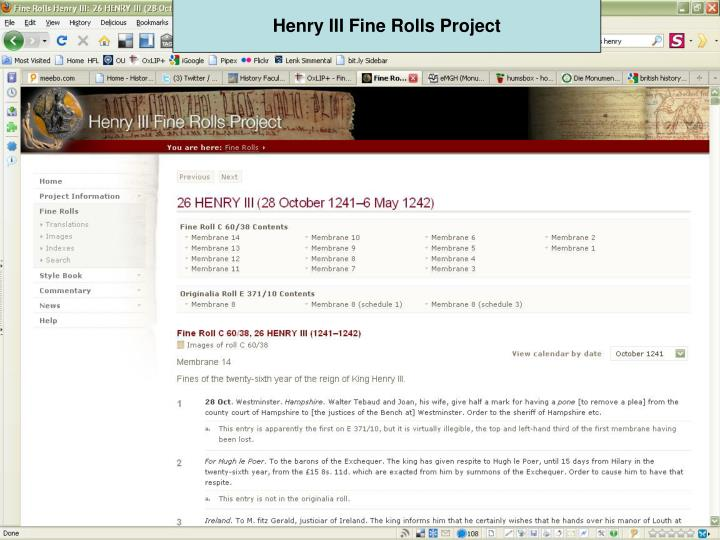 Henry III Fine Rolls Project