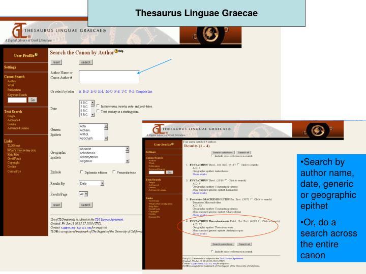 Thesaurus Linguae Graecae