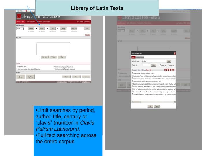 Library of Latin Texts
