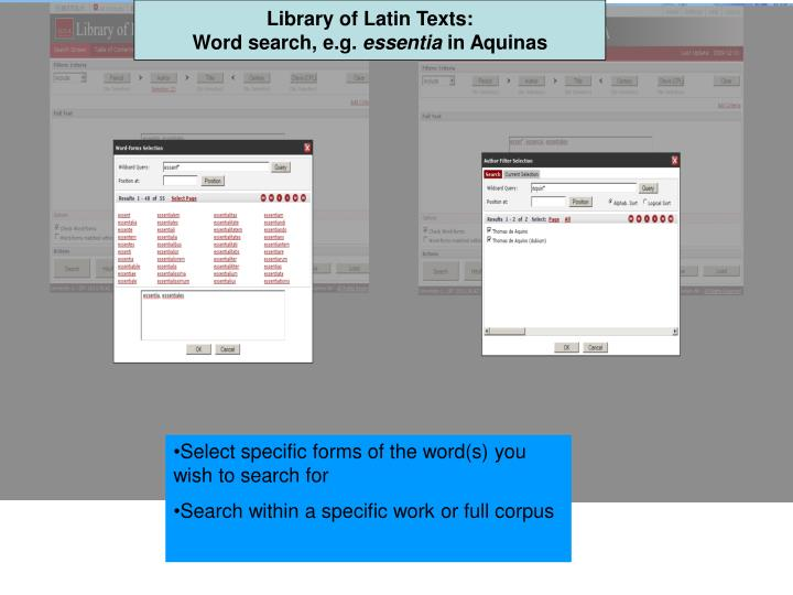 Library of Latin Texts: