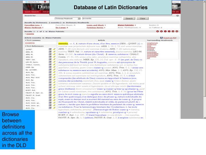 Database of Latin Dictionaries