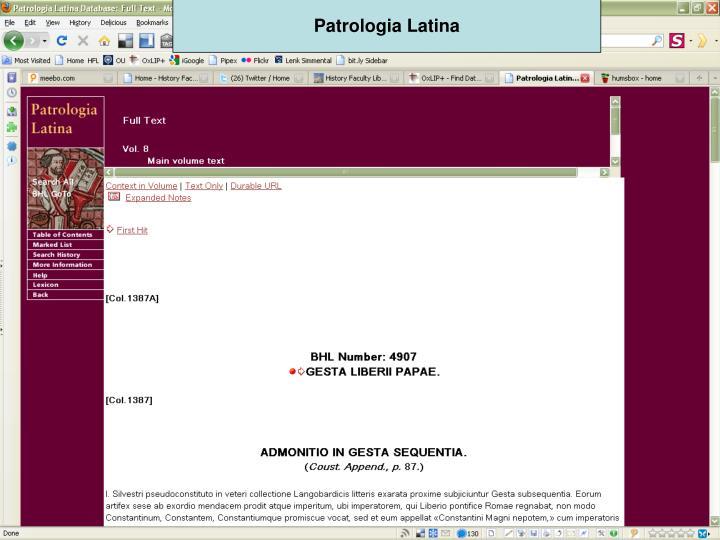 Patrologia Latina