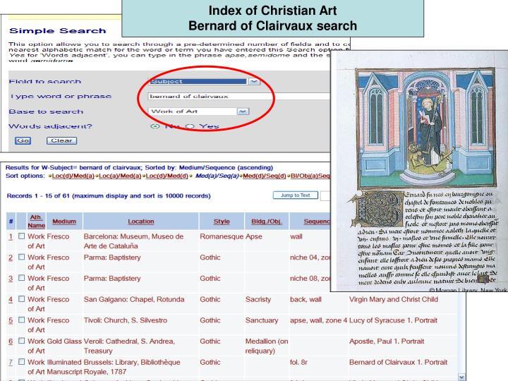 Index of Christian Art