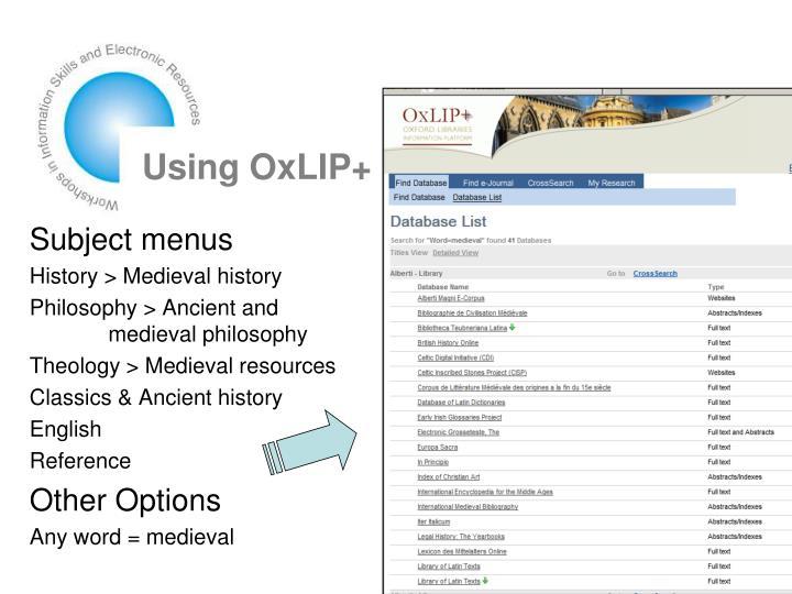 Using OxLIP+
