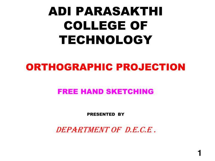 ADI PARASAKTHI COLLEGE OF TECHNOLOGY