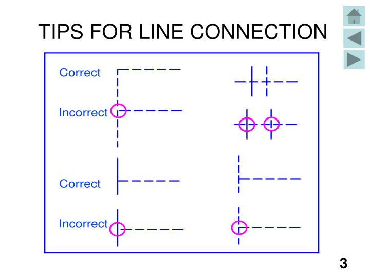 TIPS FOR LINE CONNECTION