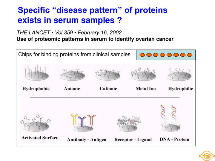 """Specific """"disease pattern"""" of proteins"""
