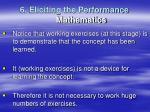 6 eliciting the performance mathematics2