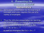 presenting the stimulus material mathematics1