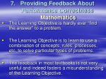 providing feedback about performance correctness mathematics1
