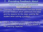 providing feedback about performance correctness mathematics2