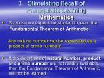stimulating recall of prerequisite learning mathematics