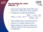 accounting for rater effects 2