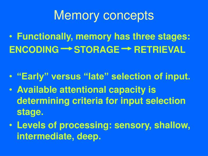Memory concepts