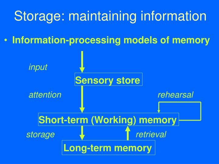 Storage: maintaining information