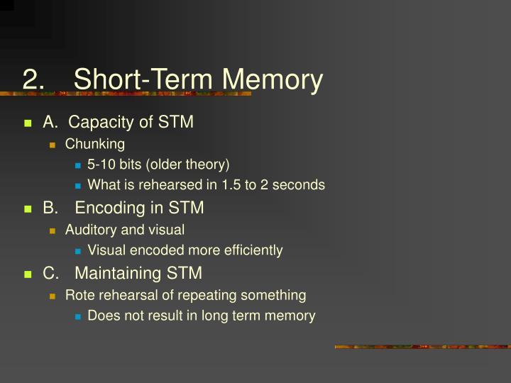 2.Short-Term Memory