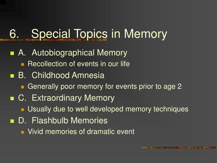 6.Special Topics in Memory