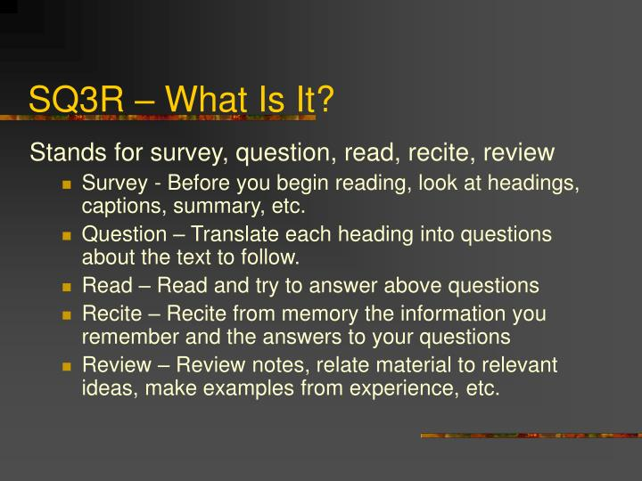 SQ3R – What Is It?