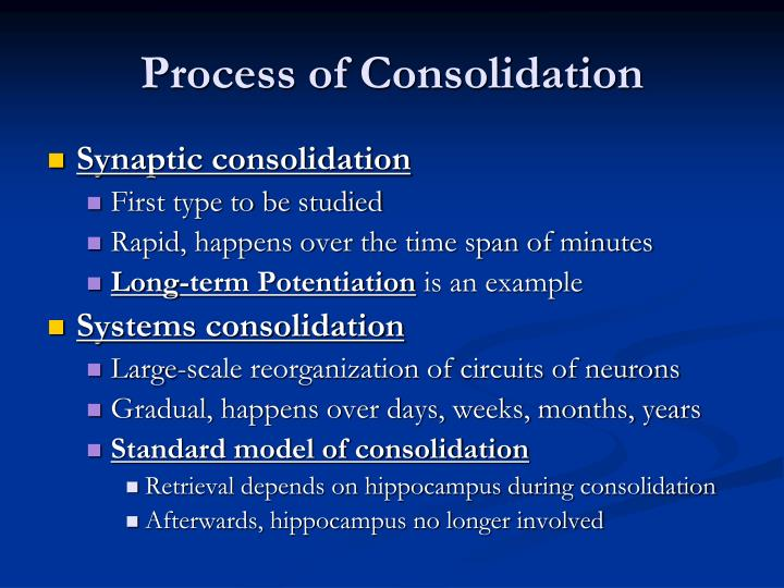 Process of Consolidation