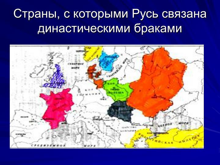 Страны, с которыми Русь связана династическими браками
