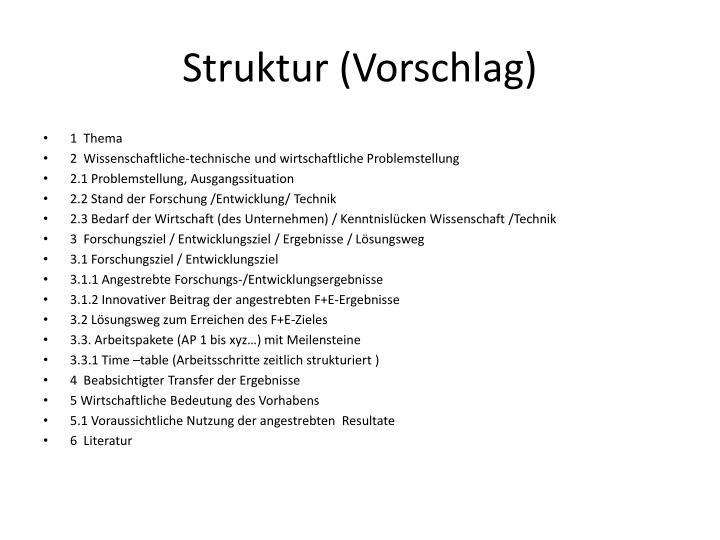 Struktur (Vorschlag)