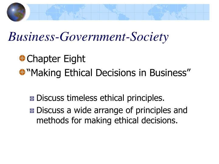 Business government society