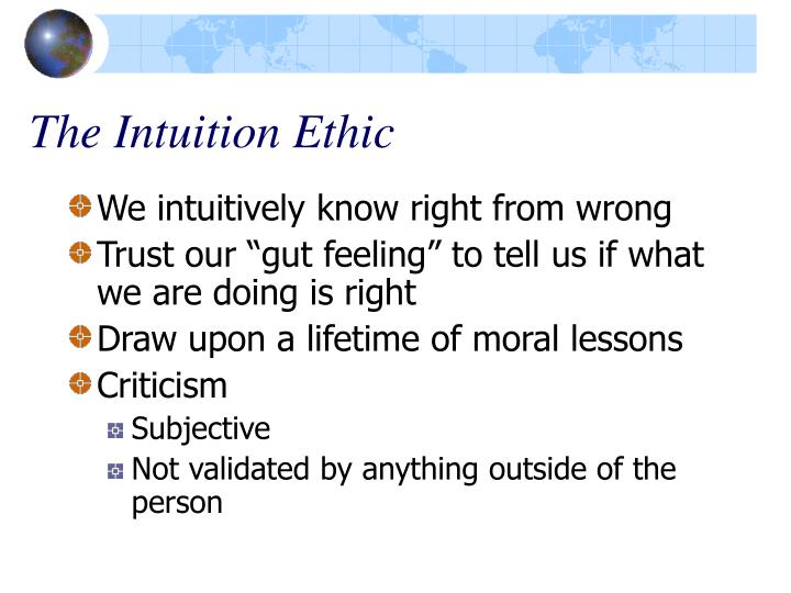 The Intuition Ethic