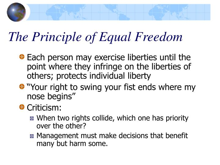 The Principle of Equal Freedom